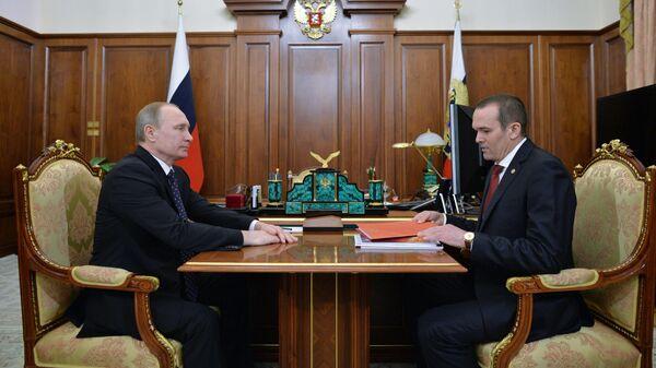 Президент РФ В. Путин встретился с главой Чувашии М. Игнатьевым