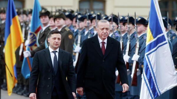 Президент Украины Владимир Зеленский и президент Турции Реджеп Тайип Эрдоган