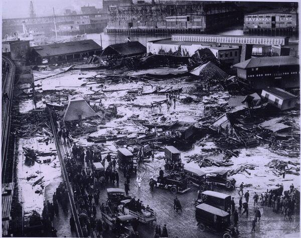 Последствия потопа в Бостоне