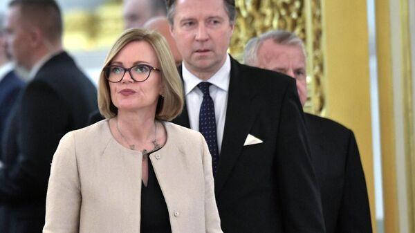 Чрезвычайный и полномочный посол Соединённого Королевства Великобритании и Северной Ирландии Дебора Джейн Броннерт на церемонии вручения верительных грамот