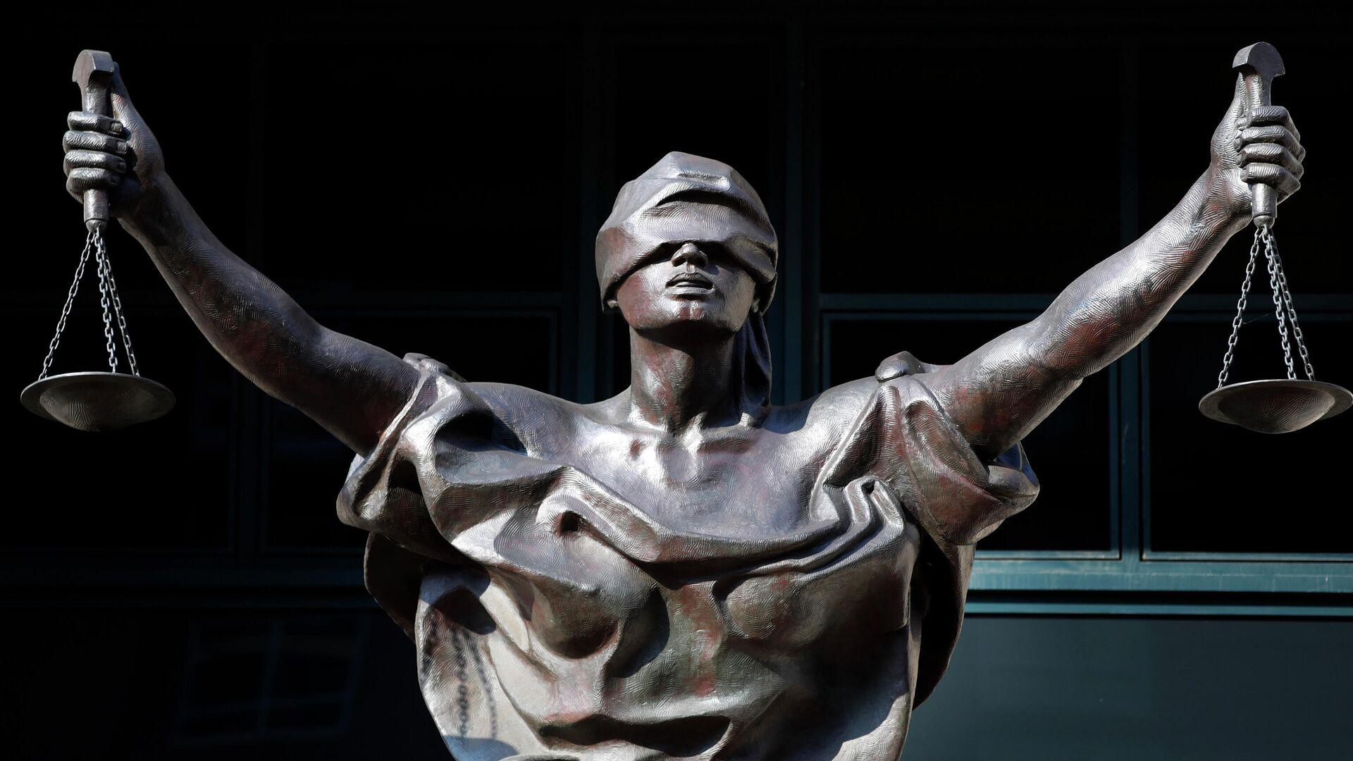 Статуя Фемиды у здания федерального суда в городе Александрия, штат Вирджиния, США - РИА Новости, 1920, 02.01.2021