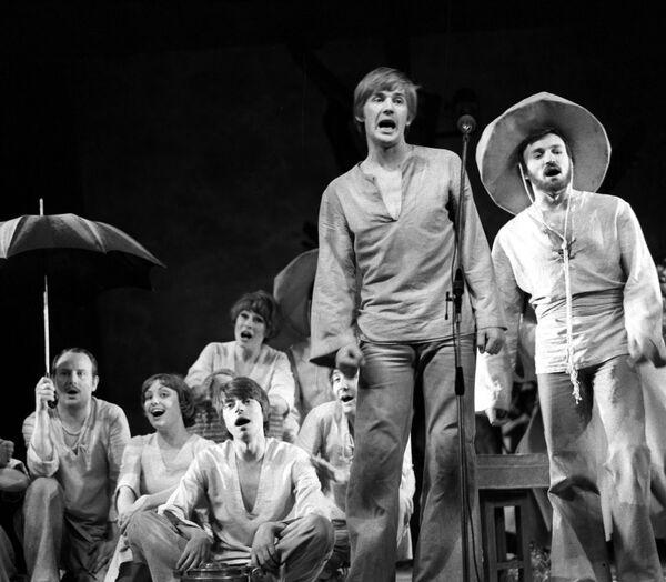 Сцена из спектакля Звезда и смерть Хоакина Мурьетты Театра им.Ленкома