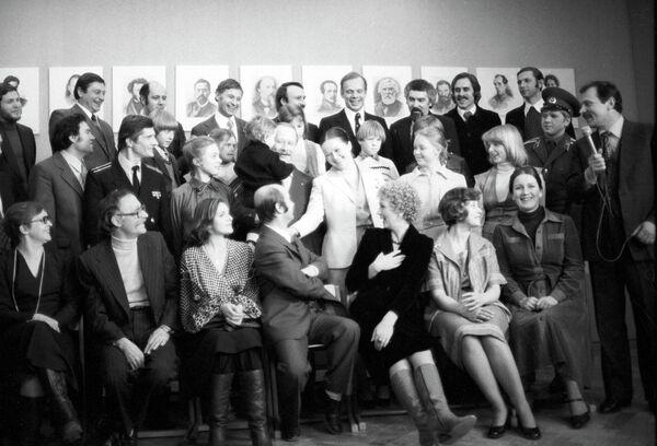 Актриса Наталья Гундарева на съемках художественного фильма Однажды, двадцать лет спустя