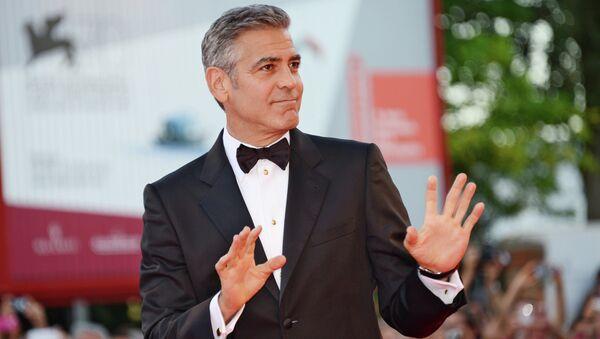 Актер Джордж Клуни на церемонии открытия 70-го Венецианского международного кинофестиваля