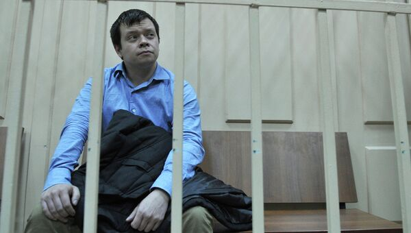 Константин Лебедев на заседании Басманного суда. Архив