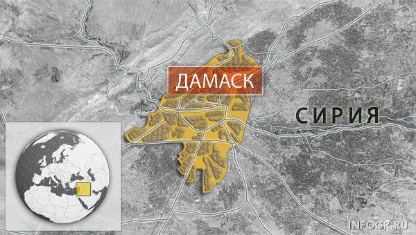 Дамаск карта