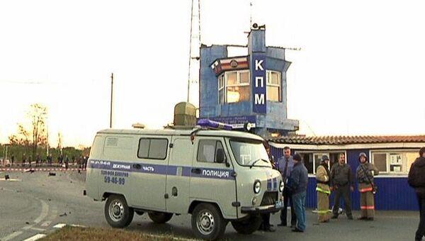Недалеко от места взрыва у поста полиции в Северной Осетии