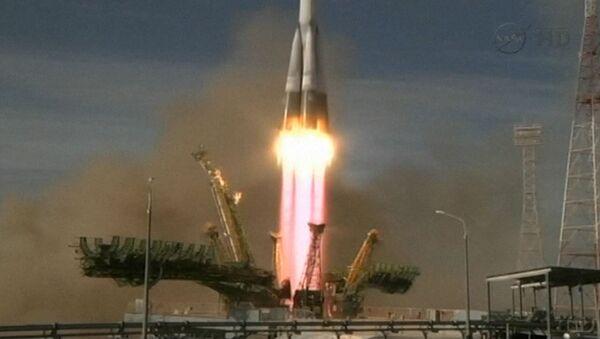 Новая экспедиция к МКС на Союзе ТМА-06М. Съемка старта с Байконура
