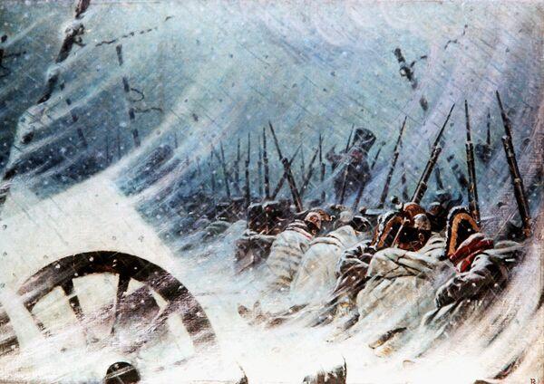 """Василий Верещагин """"Ночной привал великой армии"""", 1896-1897"""