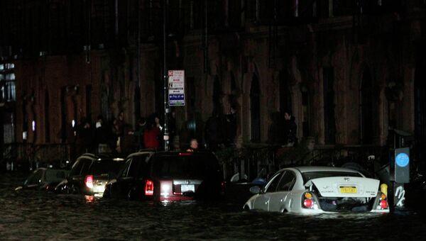 Подтопления в Нью-Йорке в связи с обрушением Урагана Сэнди