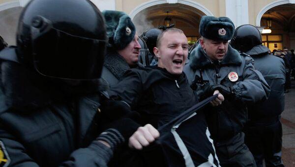 Задержание участников акции Стратегия-31 в Санкт-Петербурге