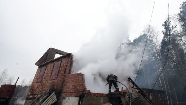 Пожар на газопроводе в Щелковском районе Московской области