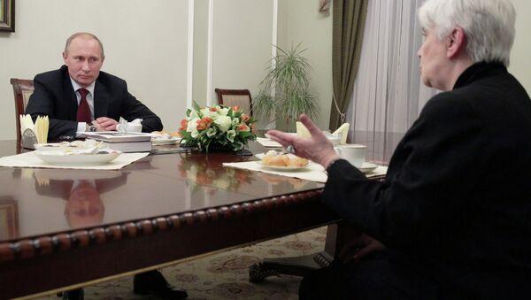 Встреча Путина и  Солженицыной