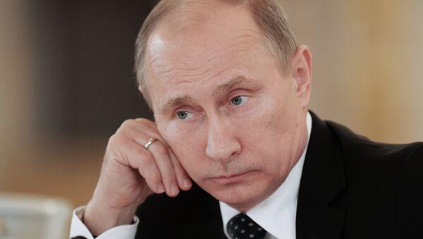 Президент России Владимир Путин. Архивная фотография