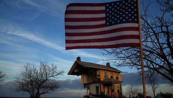 Дом, пострадавший от урагана Сэнди