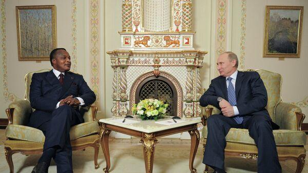 В.Путин встретился с Д.Сассу-Нгессо