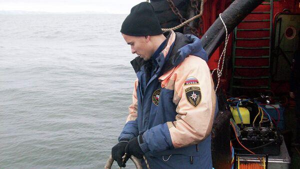 Работа поискового отряда на спасательном судне «Рубин»