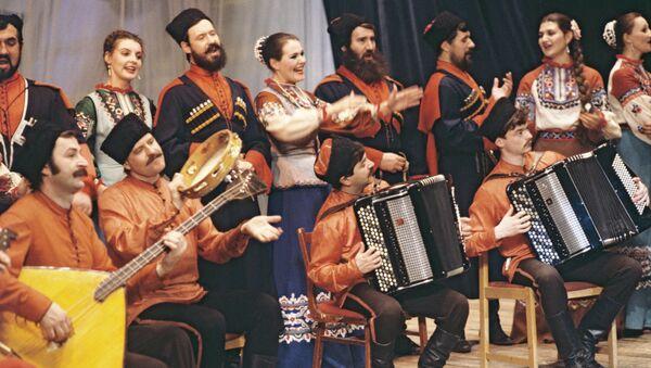 Кубанский казачий хор. Архивное фото