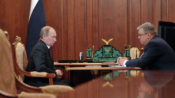 Встреча президента РФ В.Путина с Я.Кузьминовым в Кремле