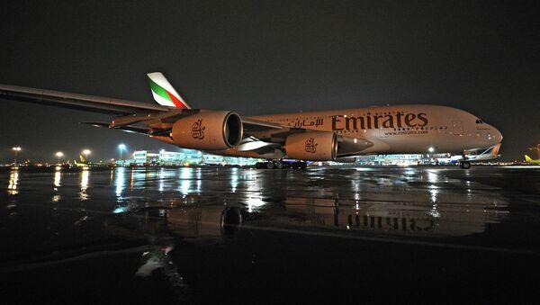 Прилет Airbus A380 в аэропорт Домодедово