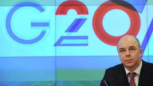 Антон Силуанов на пресс-конференции, посвященной председательству России в G20