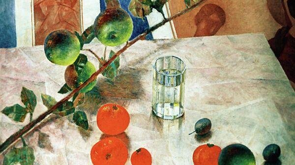 Картина К.Петрова-Водкина Натюрморт с яблоками. Архивное фото