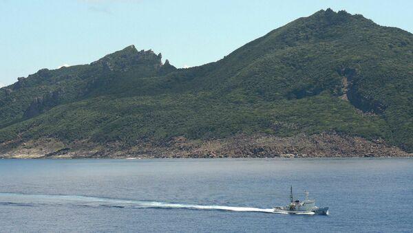 Корабль береговой охраны Японии патрулирует территорию спорных островов Сенкаку