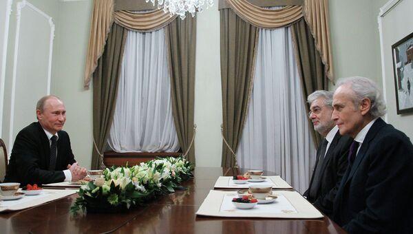 Встреча В.Путина с Х.Каррерасом и П.Доминго в Ново-Огарево