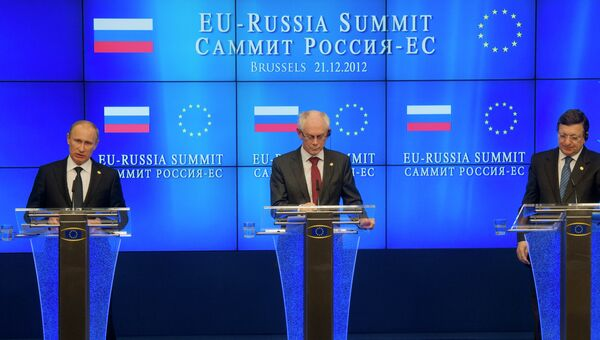 В.Путин на саммите Россия-ЕС в Брюсселе