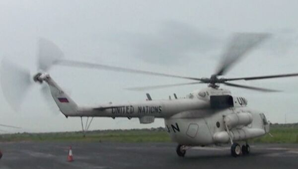 Вертолет российских миротворцев в Судане