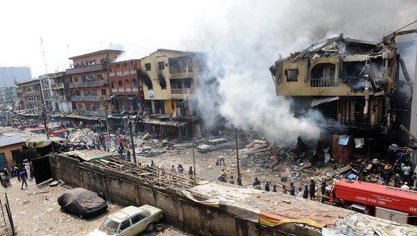 Пожар в Лагосе, Нигерия