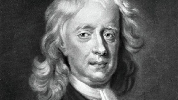 Репродукция гравюры Джеймса МакАрделла Исаак Ньютон