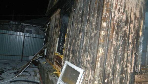Пожар в частном доме в городе Калач-на-Дону