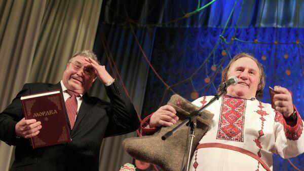 Глава Мордовии Владимир Волков и актер Жерар Депардье