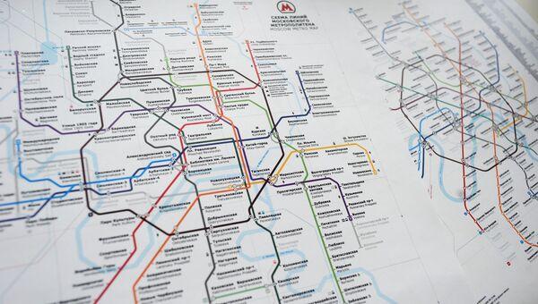Прогрессивный и консервативный варианты схемы московского метро