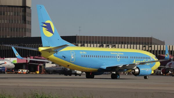 Самолеты украинской авиакомпании Аэросвит