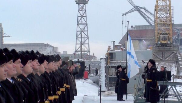 Андреевский флаг поднялся над подводным крейсером Юрий Долгорукий
