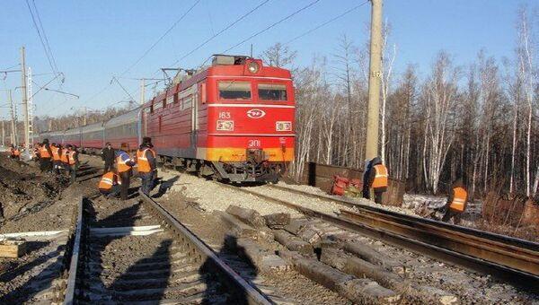 Сход вагонов в Амурской области