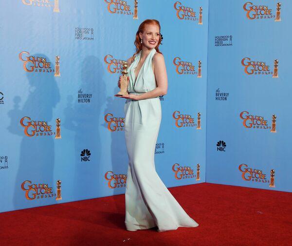 Актриса Джессика Честейн на церемонии вручения премии «Золотой глобус»