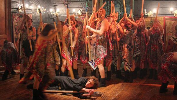 Сцена из спектакля Борис Годунов