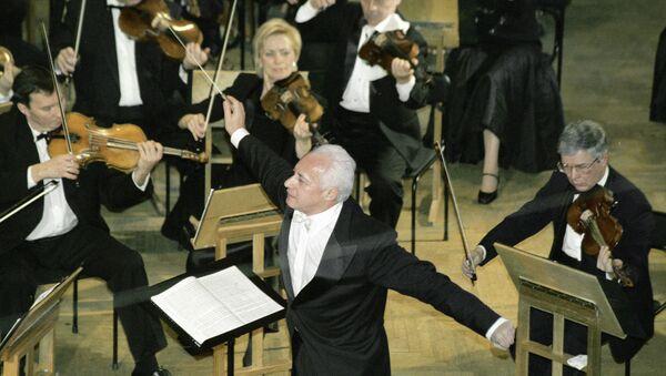 Национальный филармонический оркестр России под управлением Владимира Спивакова. Архивное фото