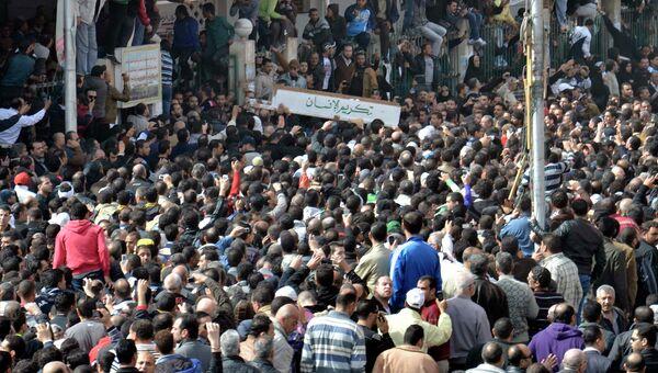 Похороны погибших во время беспорядков в Порт-Саиде
