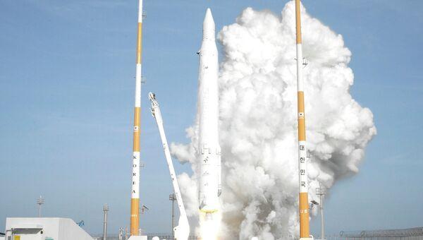 Запуск южнокорейской ракеты