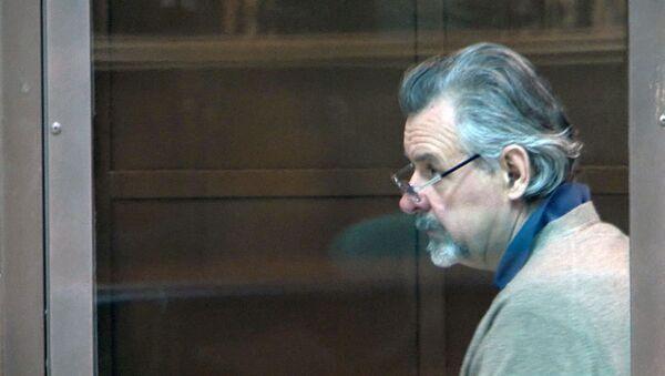Фигуранту игорного дела Игнатенко продлили арест. Съемка из зала заседаний