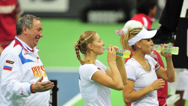 Теннис. Кубок Федерации. Матч Россия - Япония. Второй день