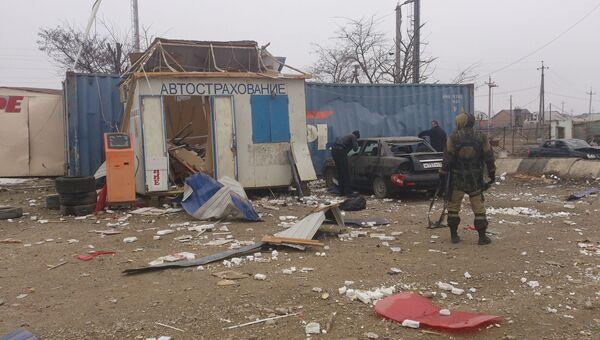Теракт на посту ДПС в Хасавюрте