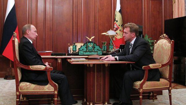 Встреча Владимира Путина с Игорем Шуваловым
