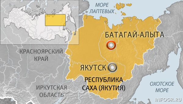Якутский поселок Батагай-Алыта