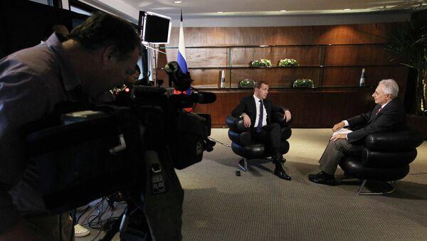 Интервью Дмитрия Медведева бразильскому телеканалу Globo
