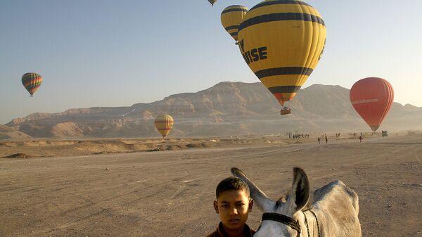 Воздушные шары над городом Луксор, Египет